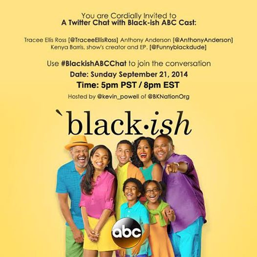 Blackish live twitter chat invite